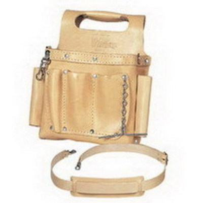 Ideal 35-311 Ideal 35-311 Tuff-Tote™ Tool Bag With Shoulder Strap; 8 Pocket, Standard Leather