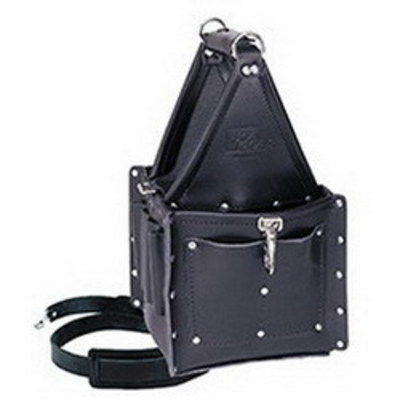 Ideal 35-975BLK Ideal 35-975BLK Tuff-Tote™ Utility Tool Pouch Carrier With Shoulder Strap; 21 Pocket, Leather, Premium Black