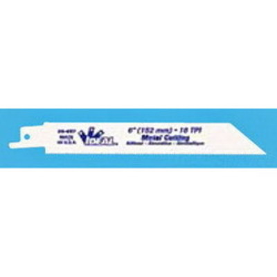 Ideal 36-057 Ideal 36-057 Metal Cutting Bi-Metal Reciprocating Saw Blade; 6 Inch, 3/4 Inch, 18 TPI, 5/Pack