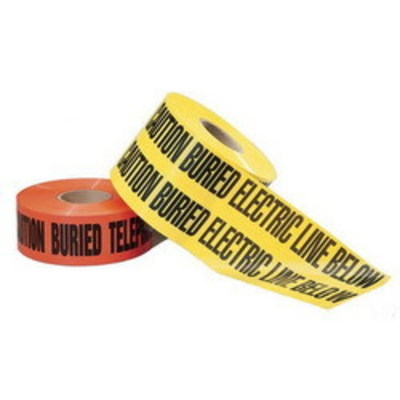 Ideal 42-104 Ideal 42-104 Non-Detectable Underground Tape; 1000 ft x 3 Inch x 4 mil, Caution Buried Electric Line Below, LDPE, Black On Orange Background