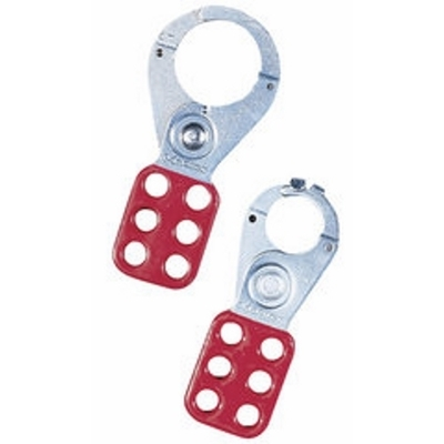 Ideal 44-801 Ideal 44-801 Padlock Safety Lockout Interlocking Hasp With Overlapping Tab; Vinyl/Plated, Red