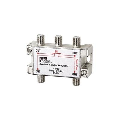 Ideal 85-334 Ideal 85-334 4-Way HD Digital Cable/Satellite Splitter; Screw Mount, 2 Giga-Hz