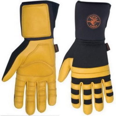 Klein Tools 40084 Klein Tools 40084 Lineman Work Glove; X-Large, Black Spandex Back With Klein Lineman Logo Patch