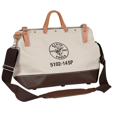 Klein Tools 510214SP Klein Tools 5102-14SP Tool Bag; Deluxe Canvas, 10 Pockets