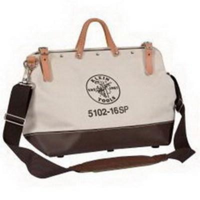 Klein Tools 510216SP Klein Tools 5102-16SP Deluxe Canvas Tool Bag With Shoulder Strap; 13 Pocket, Vinyl