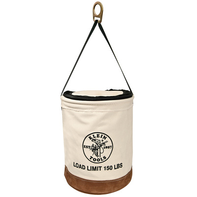 Klein Tools 5104CLR22 Klein Tools 5104CLR22 Heavy-Duty Top Closing Bucket; Leather, Clear