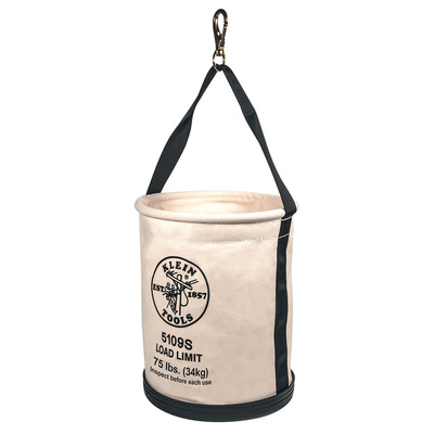 Klein Tools 5109S Klein Tools 5109S Wide-Opening Straight Swivel Snap Wall Bucket; No. 6 Canvas