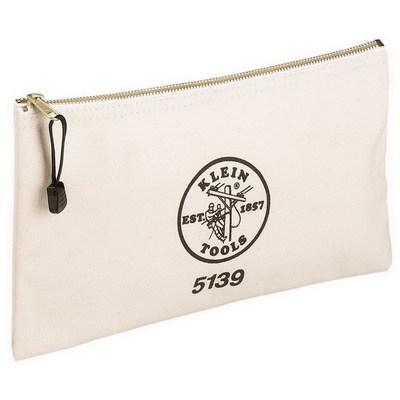 Klein Tools 5139 Klein Tools 5139 Zipper Bag; Canvas, White