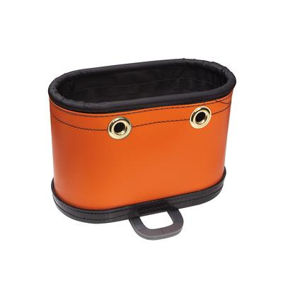Klein Tools 5144BHB Klein Tools 5144BHB Oval Bucket with Kickstand; Polypropylene, Orange, 14 Pockets