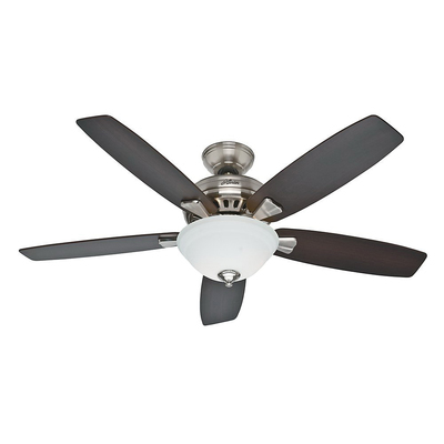 Klein Tools 53175 Hunter Fan 53175 Banyan Collection Standard Ceiling Fan With Light; 5160 cfm, 159 RPM, 5 Blade, Incandescent Lamp