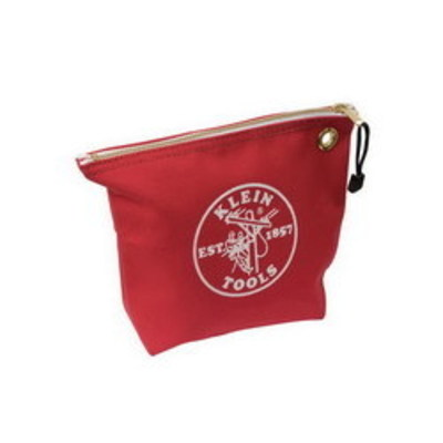 Klein Tools 5539RED Klein Tools 5539RED Zipper Bag; Canvas, Red