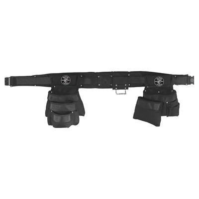 Klein Tools 5709XL Klein Tools 5709XL Powerline™ Combo Tool Belt Set; 2 Inch Belt Width, X-Large, Black, 11 Pockets