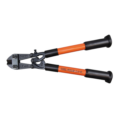Klein Tools 63118 Klein Tools 63118 Bolt Cutter; 1/4 Inch Maximum Hard Material Cutting, 3/8 Inch Maximum Soft and Medium Cutting, 18.250 Inch, Fiberglass Handle