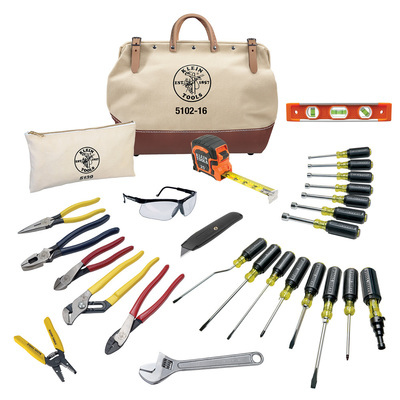 Klein Tools 80028 Klein Tools 80028 Electrician Tool Set; 28 Pieces, Includes Tool Pouch