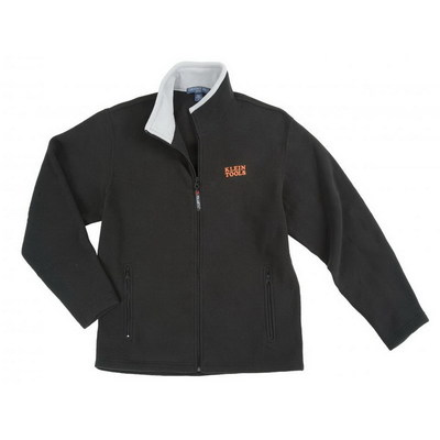 Klein Tools 96612BLK-XL Klein Tools 96612BLK-XL Fleece Men's Jacket; 2X-Large, Polyester Velour, Black