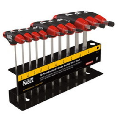 Klein Tools JTH410E Klein Tools JTH410E Journeyman™ SAE T-Handle Set With Stand
