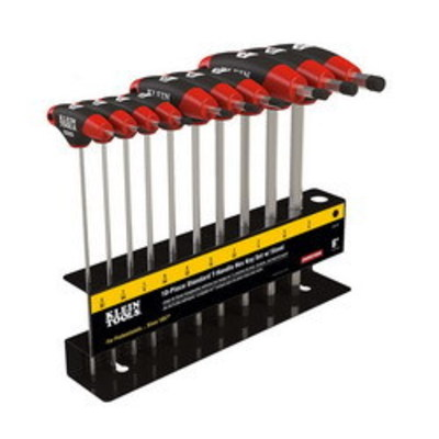 Klein Tools JTH610E Klein Tools JTH610E Journeyman™ Hex-Key Set with Stand; Treated Steel Key, Metal Stand, 10 Pieces