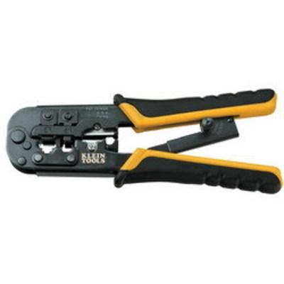 Klein Tools VDV226011SEN Klein Tools VDV226-011SEN Compact Ratcheting Modular Crimper; 5.250 Inch Overall Length, High Carbon Steel Blade