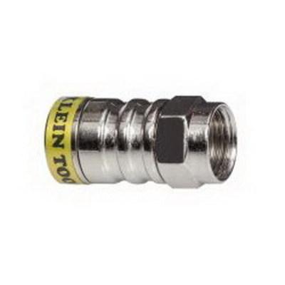 Klein Tools VDV812-626 Klein Tools VDV812-626 F Push-On Connector; Solid Brass, Bright Nickel
