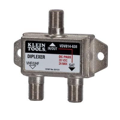 Klein Tools VDV814638 Klein Tools VDV814-638 Satellite/TV Diplexer; 5 Mega-Hz - 2.3 Giga-Hz