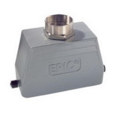 LAPP 100809NP Lapp 100809NP Top Entry HB Series Single Lever Hood; 16 Amp, 500 Volt, 600 Volt, 3/4 Inch NPT Hub, Aluminum Alloy, Powder-Coated