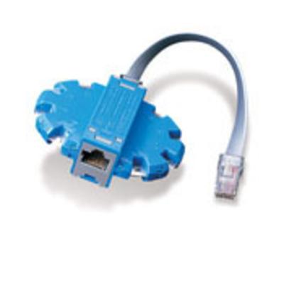 Leviton 40070-MDP Leviton 40070-MDP Modular Plug Breakout Adapter; Blue