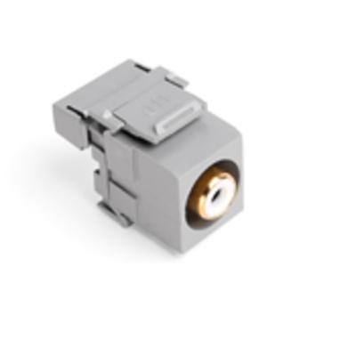 Leviton 40735-RWG Leviton 40735-RWG QuickPort® RCA 110-Termination Connector; Plastic, White/Gray