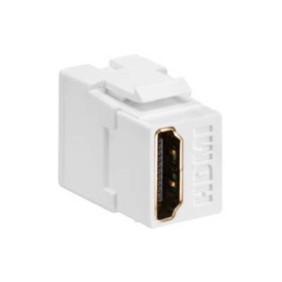 Leviton 40834-W Leviton 40834-W Female-To-Female HDMI Feedthrough Connector; ABS Plastic, White
