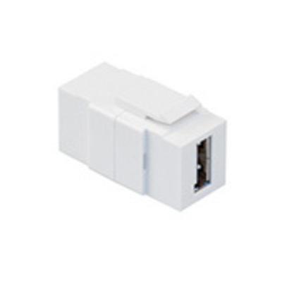 Leviton 40835-W Leviton 40835-W QuickPort® USB Feedthrough Connector; White