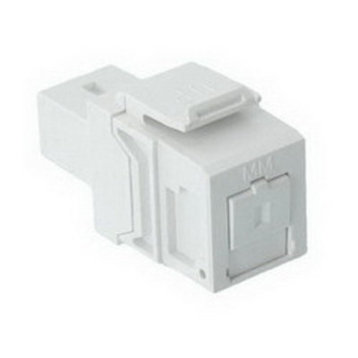 Leviton 41085-SWC Leviton 41085-SWC QuickPort® Fiber Optic Adapter; SC, Singlemode, White