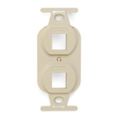 Leviton 41087-2IP Leviton 41087-2IP Duplex Insert; Flush, (2) Port, High Impact Flame Retardant Plastic, Ivory