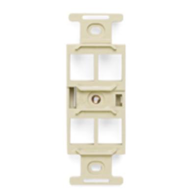 Leviton 41087-QIP Leviton 41087-QIP 1-Gang Duplex Insert; Flush, (4) Port, High Impact Flame Retardant Plastic, Ivory
