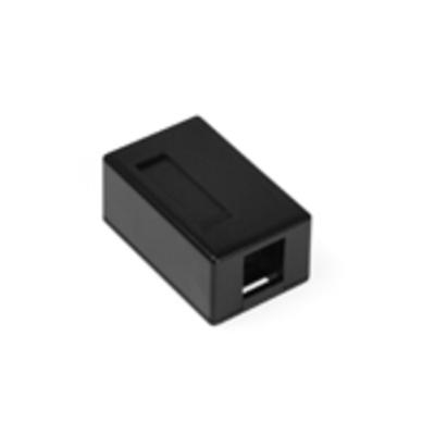 Leviton 41089-1EP Leviton 41089-1EP QuickPort® Box; Surface, (1) Port, High Impact Flame Retardant Plastic, Black