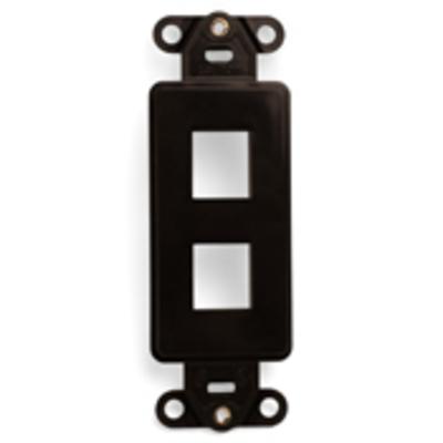 Leviton 41642-B Leviton 41642-B 1-Gang Multimedia Insert; Flush, (2) Port, High Impact Flame Retardant Plastic, Brown