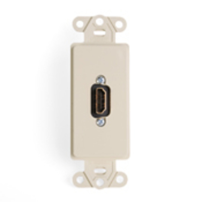 Leviton 41647-I Leviton 41647-I Female-To-Female 1-Gang Insert With HDMI Feedthrough Connector; Ivory