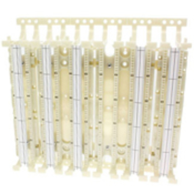 Leviton 41AW2-300 Leviton 41AW2-300 110-Punchdown Category 5e Wiring Base With Legs; Wall Mount, 300-Pair, Ivory, 1/Pack
