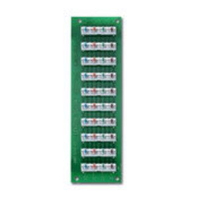 Leviton 47603-110 Leviton 47603-110 1 x 9 Bridged Telephone Board; White Bracket
