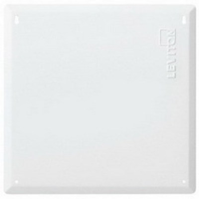 Leviton 47605-14B Leviton 47605-14B Structured Media® 140 Series Blank Cover; Flush Mount, 18 Gauge Steel Cover, White, 6/Pack