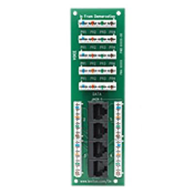 Leviton 47609-4DP Leviton 47609-4DP Structured Media® Telephone/Data Expansion Board; 4-Port, Green