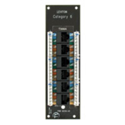 Leviton 47611-C6 Leviton 47611-C6 Category 6 Voice and Data Board; 6-Port, White Bracket