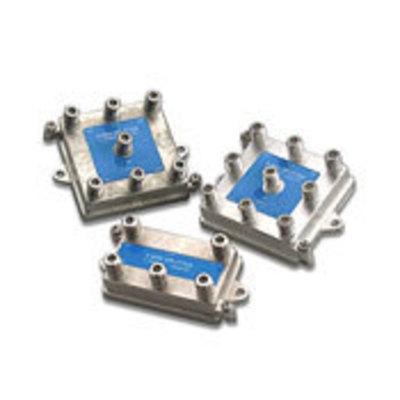 Leviton 47690-8 Leviton 47690-8 Male 8-Way Passive Video Antenna F-Type Splitter Module; 1 Giga-Hz, Silver