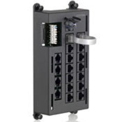 Leviton 476TL-T12 Leviton 476TL-T12 Telephone Input Distribution Panel (TIDP); 16-Port, Black