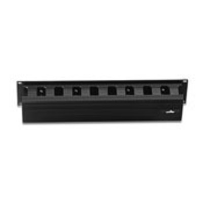 Leviton 492RU-HFO Leviton 492RU-HFO Versi-Duct® Horizontal Cable Management With Cover; Screw Mount, 2R-Rack Unit, PVC