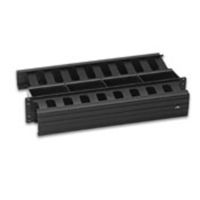 Leviton 492RU-HFR Leviton 492RU-HFR Versi-Duct® Horizontal Cable Manager With Cover; Screw Mount, 2R-Rack Unit, PVC