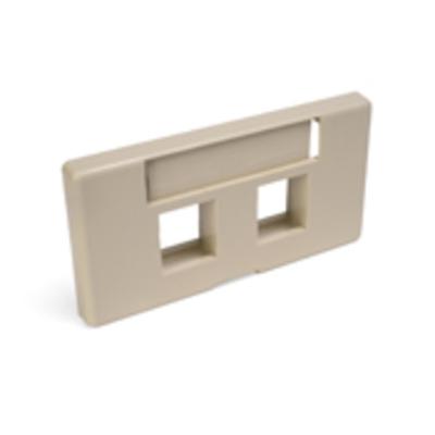 Leviton 49910-SI2 Leviton 49910-SI2 Modular Furniture Faceplate With ID Windows; Flush, (2) Port, ABS Plastic, Ivory