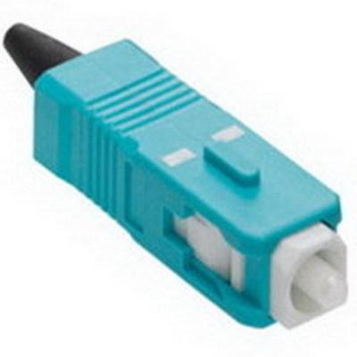 Leviton 49990-LSC Leviton 49990-LSC Fast-Cure® SC Series Optical Fiber Connector; Multimode, 0.1 Inch, Zirconia Ferrule, Aqua