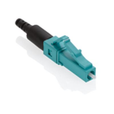 Leviton 49991-LLC Leviton 49991-LLC FastCAM® Pre-Polished LC Fiber Optic Connector; Multimode, 50/125 um, Aqua