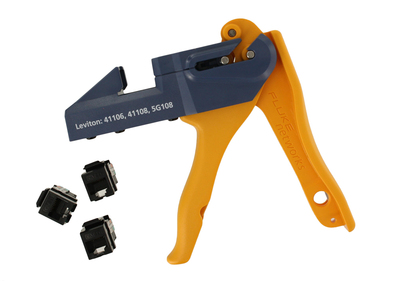 Leviton 5G108-JE5 Leviton 5G108-JE5 GigaMax™ QuickPort® CAT 5e UTP Connector; 110 Punch Down, Surface/Flush Mount, Black