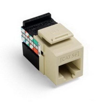 Leviton 5G108-RI5 Leviton 5G108-RI5 GigaMax® QuickPort® Category 5e Modular Jack; Snap-In/Surface/Flush Mount, 8P8C, Ivory