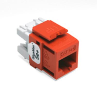 Leviton 5G110-RO5 Leviton 5G110-RO5 GigaMax® Category 5e+ Modular Connector; Snap-In/Surface/Flush Mount, 8P8C, Orange
